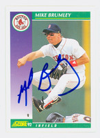 Mike Brumley AUTOGRAPH 1992 Score Red Sox 