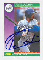 Tom Goodwin AUTOGRAPH 1992 Score Dodgers 