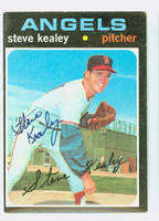 Steve Kealey AUTOGRAPH 1971 Topps #43 Angels CARD IS VG; AUTO CLEAN