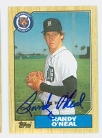 Randy O' Neal AUTOGRAPH 1987 Topps #196 Tigers 