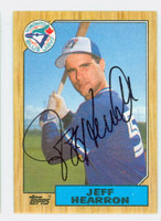 Jeff Hearron AUTOGRAPH 1987 Topps #274 Blue Jays 