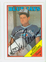 Jimy Williams AUTOGRAPH 1988 Topps Blue Jays 