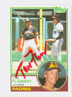 Tim Flannery AUTOGRAPH 1983 Topps #38 Padres   [SKU:FlanT6125_T83BBNx]
