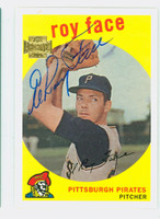 Roy Face AUTOGRAPH 2002 Topps Archives 1959 Topps Design Pirates 