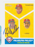 Rich Dubee AUTOGRAPH Topps Heritage 1960 Topps Design Coaches Card Phillies 