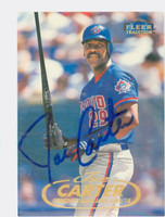 Joe Carter AUTOGRAPH 1998 Fleer Tradition Blue Jays 