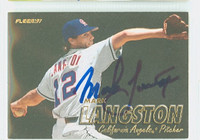 Mark Langston AUTOGRAPH 1997 Fleer Angels 
