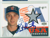 Brent Abernathy AUTOGRAPH 2000 Upper Deck USA Authentics - Embedded Jersey USA 