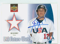 Abe Alvarez AUTOGRAPH 2002 Upper Deck USA Future Watch - Embedded Jersey USA 
