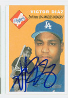 Victor Diaz AUTOGRAPH 2003 Topps Heritage 1954 Topps Design Dodgers 