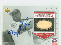 Brandon Phillips AUTOGRAPH 2001 Upper Deck Minor League Centennial Harrisburg - Embedded Bat 