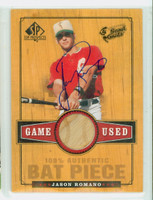 Jason Romano AUTOGRAPH 2000 Upper Deck SP Top Prospects - Embedded Bat Rangers 