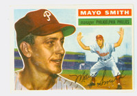 1956 Topps Baseball 60 Mayo Smith Philadelphia Phillies Excellent to Mint White Back