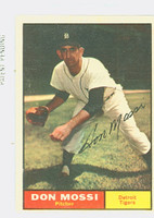 Don Mossi AUTOGRAPH 1961 Topps #14 Tigers CARD IS VG; AUTO CLEAN