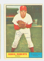 Robin Roberts AUTOGRAPH d.10 1961 Topps #20 Phillies CARD IS POOR; HEAVY VERT CREASE
