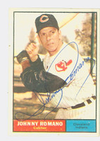 Johnny Romano AUTOGRAPH 1961 Topps #5 Indians CARD IS VG/EX; AUTO CLEAN