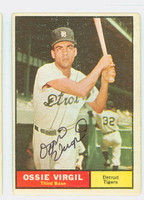 Ozzie Virgil AUTOGRAPH 1961 Topps #67 Tigers CARD IS VG; AUTO CLEAN