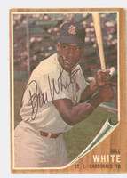 Bill White AUTOGRAPH 1962 Topps #14 Cardinals CARD IS VG/EX; AUTO CLEAN  [SKU:WhitB1215_T62BBC]