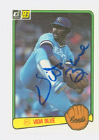Vida Blue AUTOGRAPH 1983 Donruss #34 Royals 