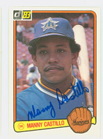 Manny Castillo AUTOGRAPH 1983 Donruss #253 Mariners 