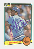Chris Chambliss AUTOGRAPH 1983 Donruss #123 Braves 