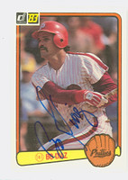 Bo Diaz AUTOGRAPH d.90 1983 Donruss #147 Braves 