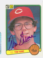 Tom Hume AUTOGRAPH 1983 Donruss #229 Reds 