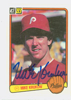 Mike Krukow AUTOGRAPH 1983 Donruss #119 Phillies 