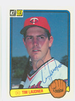 Tim Laudner AUTOGRAPH 1983 Donruss #177 Twins 