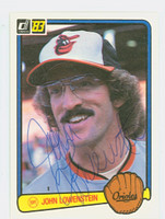 John Lowenstein AUTOGRAPH 1983 Donruss #153 Orioles 