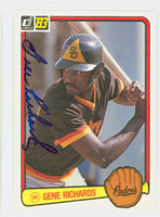 Gene Richards AUTOGRAPH 1983 Donruss #271 Padres 