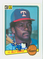 Billy Sample AUTOGRAPH 1983 Donruss #242 Rangers 