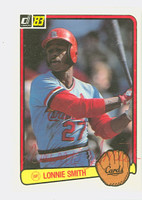 Lonnie Smith AUTOGRAPH 1983 Donruss #91 Cardinals 