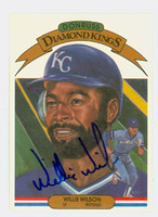 Willie Wilson AUTOGRAPH 1983 Donruss Diamond King #15 Royals 