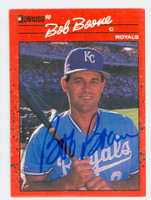 Bob Boone AUTOGRAPH 1990 Donruss Royals 