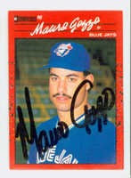 Mauro Gozzo AUTOGRAPH 1990 Donruss Blue Jays 