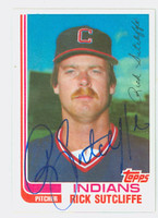 Rick Sutcliffe AUTOGRAPH 1982 Topps Traded #116T Indians   [SKU:SutcR6988_T82BBTR]