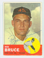 Bob Bruce AUTOGRAPH 1963 Topps #24 Colts CARD IS VG/EX; AUTO CLEAN