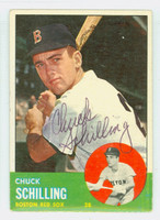 Chuck Schilling AUTOGRAPH 1963 Topps #52 Red Sox CARD IS VG; AUTO CLEAN  [SKU:SchiC745_T63BBC]