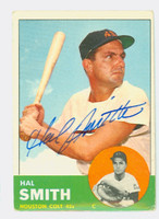 Hal W. Smith AUTOGRAPH 1963 Topps #153 Colts CARD IS G/VG, CRN WEAR; AUTO CLEAN  [SKU:SmitH5546_T63BBC]