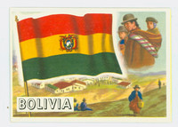 1956 Flags of the World 10 Bolivia Excellent to Mint
