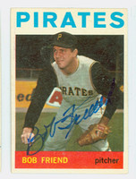 Bob Friend AUTOGRAPH 1964 Topps #20 Pirates CARD IS CLEAN EX