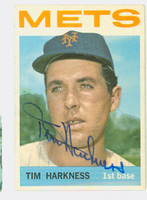 Tim Harkness AUTOGRAPH 1964 Topps #57 Mets CARD IS VG; AUTO CLEAN  [SKU:HarkT527_T64BBc]