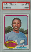 1976 Topps Football 27 Spider Lockhart New York Giants PSA 8 Near Mint to Mint