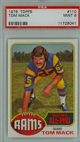 1976 Topps Football 110 Tom Mack Los Angeles Rams PSA 9 Mint