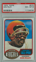 1976 Topps Football 510 Ken Riley Cincinnati Bengals PSA 8 Near Mint to Mint