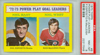 1973-74 Topps Hockey Power Play Leaders PSA 8 Near Mint to Mint