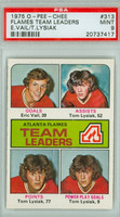1975-76 OPC NHL Hockey Flames Leaders - Lysiak PSA 9 Mint