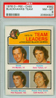 1976-77 OPC NHL Blackhawk Leaders - Pit Martin Chicago Black Hawks PSA 8 Near Mint to Mint