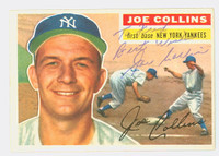 Joe Collins AUTOGRAPH d.89 1956 Topps #21 Yankees CARD IS CLEAN VG/EX; PERS